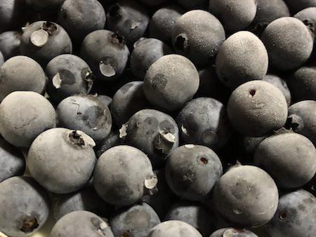 冷凍ブルーベリーの写真
