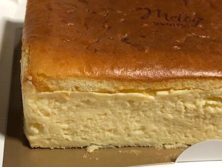 モロゾフのスフレチーズケーキ『melty souffle』横面写真