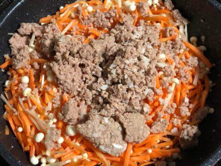 オイシックスのビビンバ ミールキットの調理写真