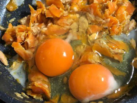 にんじんとツナの卵焼き6
